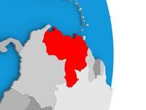 Venezuela on globe Royalty Free Stock Image