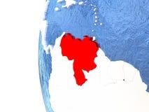 Venezuela on globe Royalty Free Stock Photo