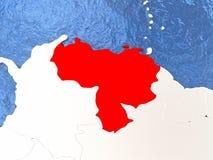 Venezuela on globe Stock Images
