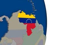 Venezuela with its flag Royalty Free Stock Photos