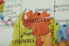 Venezuela land på pappers- översikt arkivbilder