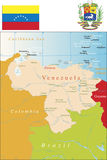 Venezuela Map. Royalty Free Stock Image