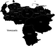 Venezuela map Royalty Free Stock Photos