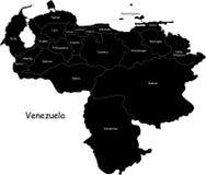 Venezuela map Royalty Free Stock Photos