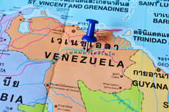 Venezuela map Royalty Free Stock Images