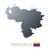 Venezuela map with official flag Stock Images