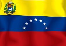 Venezuela-Markierungsfahne Stockfoto