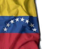 venezuela marszczył flaga, przestrzeń dla teksta Fotografia Royalty Free