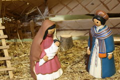 Venezuela nativity scene with the Holy Family Stock Photos
