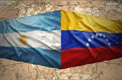Venezuela och Argentina stock illustrationer