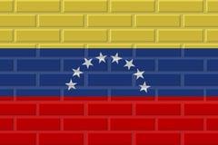 Venezuela brick flag illustration stock illustration