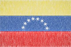 Venezuela painted flag vector illustration