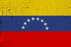 Venezuela painted flag royalty free illustration