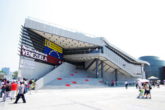Venezuela Pavilion in Expo2010 Shanghai China. Pavilion Preview Theme: A Better Life, A Better City Highlights: Mobius Strip National Pavilion Day: July 5 royalty free stock photo