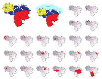 Venezuela provinces maps Stock Photos