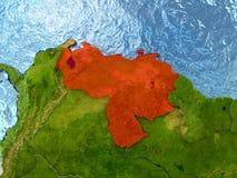 Venezuela in red Royalty Free Stock Photos