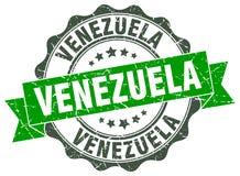 Venezuela round ribbon seal royalty free illustration