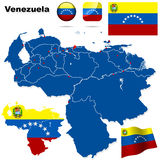 Venezuela set. Royalty Free Stock Photography