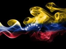 Venezuela smoke flag. On a black background stock image