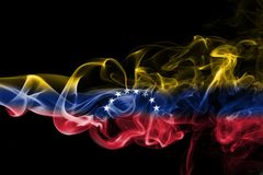 Venezuela smoke flag. Isolated on a black background Royalty Free Stock Photography