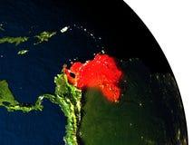 Venezuela from space Stock Image