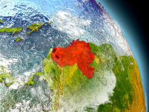 Venezuela from space Royalty Free Stock Photography