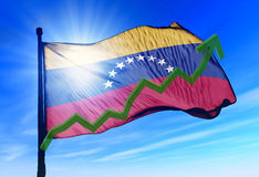 Venezuela stock markets up gain. Venezuela stock markets raise and gain money royalty free stock image