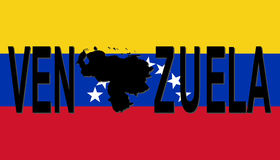 Venezuela text with map Stock Photography