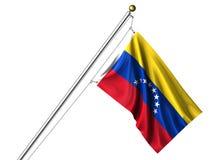 venezuelan изолированный флагом Стоковое Изображение