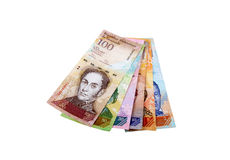 Venezuelan bank notes Stock Photography