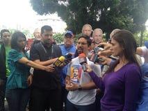 Venezuelan congressman Freddy Guevara Protests in Venezuela. Protests against Venezuelan president Nicolas Maduro Stock Photos