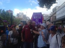 Venezuelan congressman Richard Blanco Protests in Venezuela. Protests against Venezuelan president Nicolas Maduro Stock Image