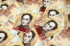 Venezuelan currency close up Royalty Free Stock Photography
