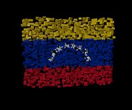 Venezuelan flag on blocks Stock Images