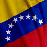 Venezuelan Flag Closeup Stock Image