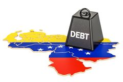 Venezuelan national debt or budget deficit, financial crisis con. Cept, 3D Royalty Free Stock Photo