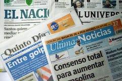 Venezuelan newspapers Stock Image
