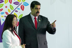 Venezuelan President Nicolas Maduro and first lady Cilia Flores Royalty Free Stock Photos