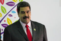 Venezuelan President Nicolas Maduro. Porlamar, Venezuela. September 17th, 2016: Venezuelan President Nicolas Maduro before the opening ceremony at the Non Stock Image