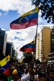 23-01-2019 Venezuelan Protestants take to the streets to express their discontent at the illegitimate takeover of Nicolas Maduro royalty free stock photo