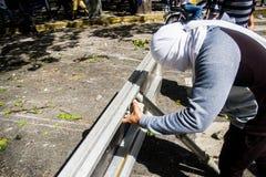 23-01-2019 Venezuelan Protestants take to the streets to express their discontent at the illegitimate takeover of Nicolas Maduro stock photos