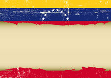 Venezuelan scratched flag Stock Photography