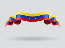 Venezuelan wavy flag. Vector illustration. Royalty Free Stock Photo