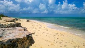 Venezuelansk bedöva kustlinje sammanlagt dess glans arkivbild