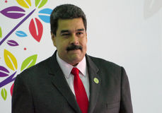 Venezuelansk president Nicolas Maduro royaltyfri fotografi