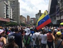 Venezuelansk protest Arkivfoto