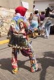Venezuelanska dansjäklar av Naiguata i dräkter som föreställer det ogripbara kulturarvet för fiskUNESCO arkivfoto