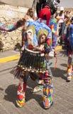 Venezuelanska dansjäklar av Naiguata i dräkter som föreställer det ogripbara kulturarvet för fiskUNESCO royaltyfri fotografi