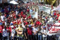 Venezuelanskt politiskt samlar av PSUV-regeringpartiet fotografering för bildbyråer