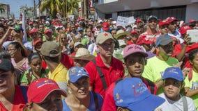 Venezuelanskt politiskt samlar av PSUV-regeringpartiet arkivfoton